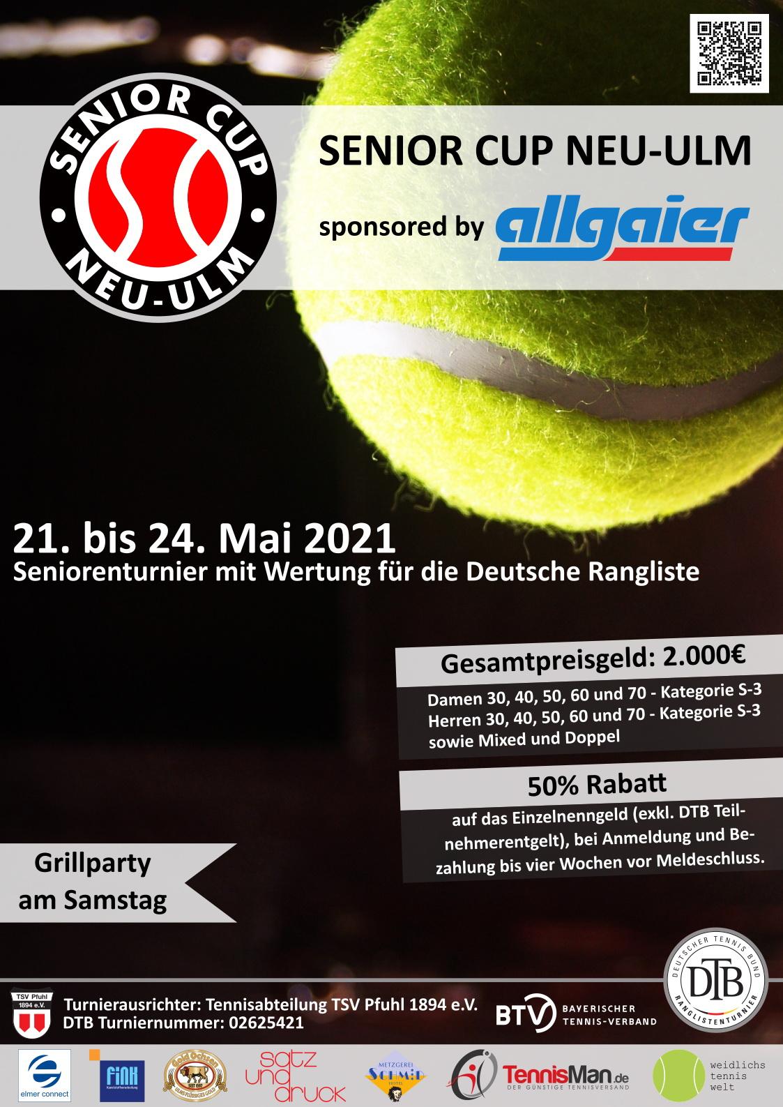 Senior Cup Neu-Ulm 2021 sponsored by allgaier